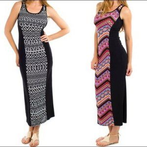 Eclipse black sides and punted insert maxi dress M